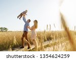 the moment of throwing the son... | Shutterstock . vector #1354624259