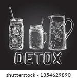 set of smoothies in different... | Shutterstock .eps vector #1354629890