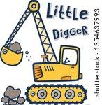 Cute Cartoon Vector Digger...