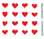 heart icons set isolated on... | Shutterstock .eps vector #1354641506