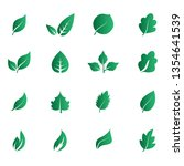 abstract leaf icon set isolated ... | Shutterstock .eps vector #1354641539