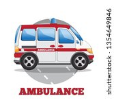 ambulance. side view. vector... | Shutterstock .eps vector #1354649846