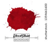 blood splatter blotch vector.... | Shutterstock .eps vector #1354661600