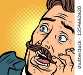 scared man with a mustache....   Shutterstock .eps vector #1354662620