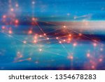 glass cube digital abstract...   Shutterstock . vector #1354678283