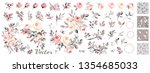roses. wedding collection of... | Shutterstock .eps vector #1354685033