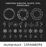 big set of hand drawn christmas ... | Shutterstock .eps vector #1354688396