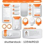 web designing element set | Shutterstock .eps vector #135469010