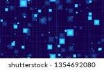 futuristic digital neon... | Shutterstock .eps vector #1354692080