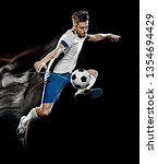 one caucasian soccer player man ... | Shutterstock . vector #1354694429