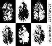 leaves imprints background.... | Shutterstock .eps vector #1354729106