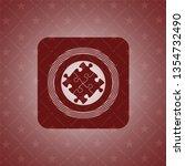 solution icon inside retro... | Shutterstock .eps vector #1354732490