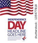 independence day template. jpg | Shutterstock . vector #135477818