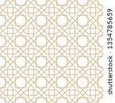 seamless golden oriental... | Shutterstock .eps vector #1354785659