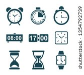 set hourglass icons  sandglass... | Shutterstock .eps vector #1354792739