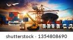 logistics and transportation of ... | Shutterstock . vector #1354808690