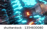 abstract technology background  ... | Shutterstock . vector #1354830080