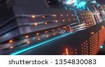 abstract technology background  ... | Shutterstock . vector #1354830083