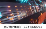 abstract technology background  ... | Shutterstock . vector #1354830086