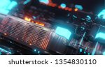 abstract technology background  ... | Shutterstock . vector #1354830110