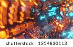 abstract technology background  ... | Shutterstock . vector #1354830113