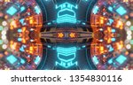abstract technology background  ... | Shutterstock . vector #1354830116