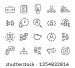 set of job seach icons  such as ... | Shutterstock .eps vector #1354832816
