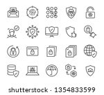 set of security icons  such as... | Shutterstock .eps vector #1354833599