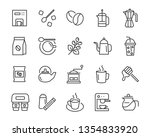 set of coffee  icons  such as... | Shutterstock .eps vector #1354833920
