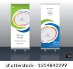 abstract vector roll up banner... | Shutterstock .eps vector #1354842299