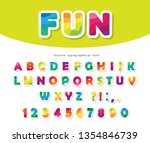 modern colorful font. bright...   Shutterstock .eps vector #1354846739