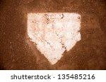 baseball field  red dirt | Shutterstock . vector #135485216