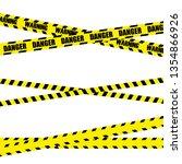 police line set  construction... | Shutterstock .eps vector #1354866926