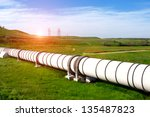 industrial pipe with gas and oil | Shutterstock . vector #135487823