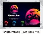 colorful game spot vector logo...   Shutterstock .eps vector #1354881746