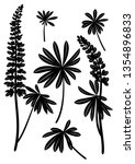 Set Of Plant Pictograms  Lupin...