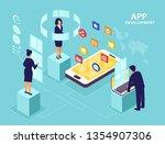 application development concept....   Shutterstock .eps vector #1354907306