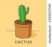 vector illustration of a green...   Shutterstock .eps vector #1354915769