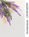 bouquet of lavender flowers on...   Shutterstock . vector #1354918559