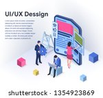 ui   ux design concept with...
