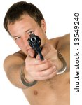 the young man with a pistol.... | Shutterstock . vector #13549240