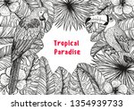 tropical collection. tropical... | Shutterstock .eps vector #1354939733