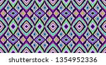 tribal pattern. ethnic print.... | Shutterstock .eps vector #1354952336