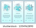 video production onboarding... | Shutterstock .eps vector #1354962890