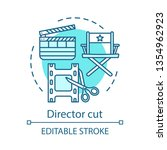 director cut concept icon.video ... | Shutterstock .eps vector #1354962923