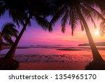 Sunset Over The Tropical Beach...