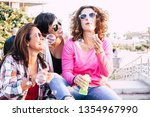playful real life concept with... | Shutterstock . vector #1354967990