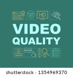 video quality word concepts...