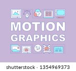 motion graphics word concepts...