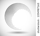 halftone circle frame  abstract ... | Shutterstock .eps vector #1354987163